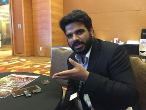 Samit - Cofounder Travelerase with the device for shop owners