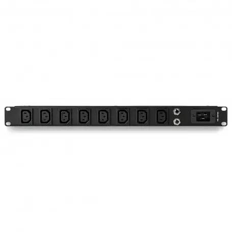 startech com 1u 19 inch 8 port rack mount pdu iec c13 socket rackmount power supply strip horizontal server rack mountable s