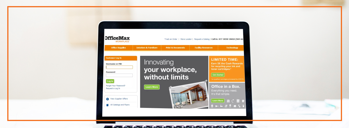 officemax upgrades b2b online customer experience on rh ecommerceandb2b com Office Workplace OfficeMax Desks On Sale