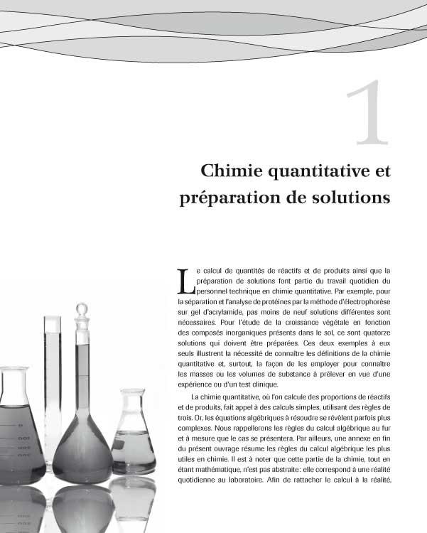 Page de chapitre du livre «Chimie du milieu aqueux»