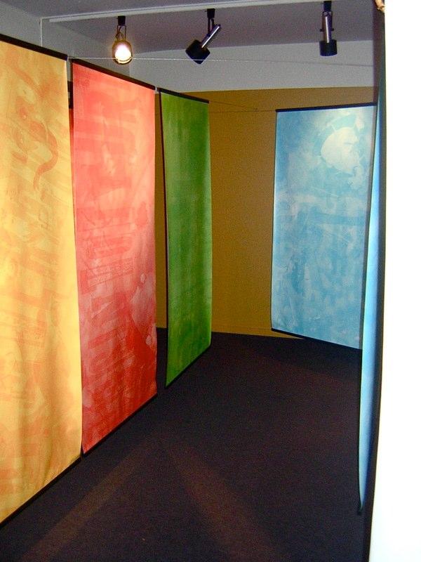 Labyrinthe d'entrée dans l'exposition