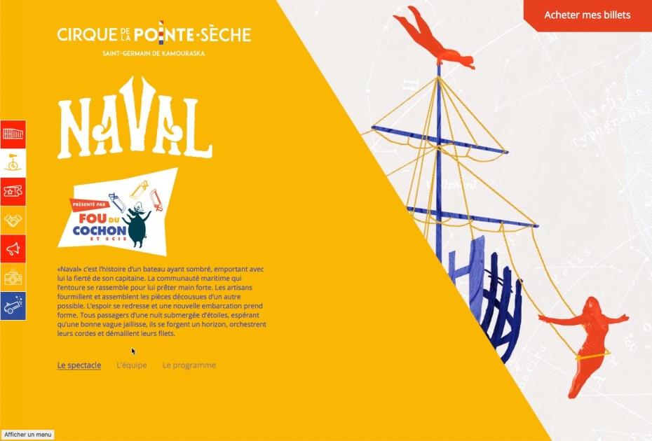 Image du site web du Cirque de la Pointe-Sèche
