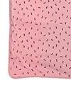 SageCreek organic cotton receiving blanket Pink background, all over brown bunny print.
