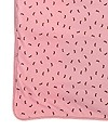SageCreek organic cotton receiving blanket Pink background, all over brown bunny print.
