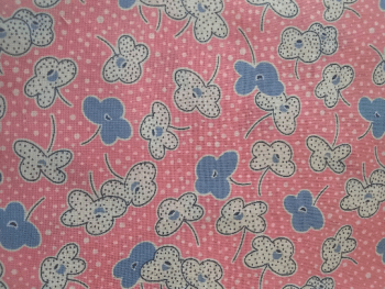 pattern of flowers on pink napkin