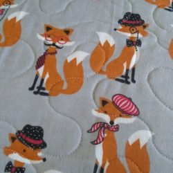 DapperDan foxes on grey flannel background