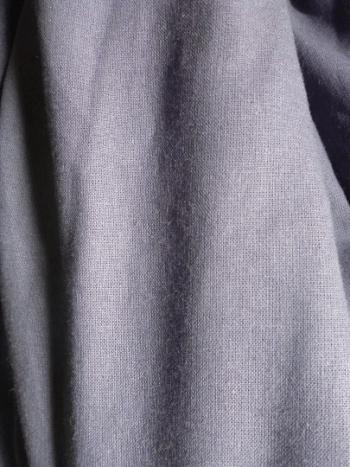 steel blue hemp fabric draped