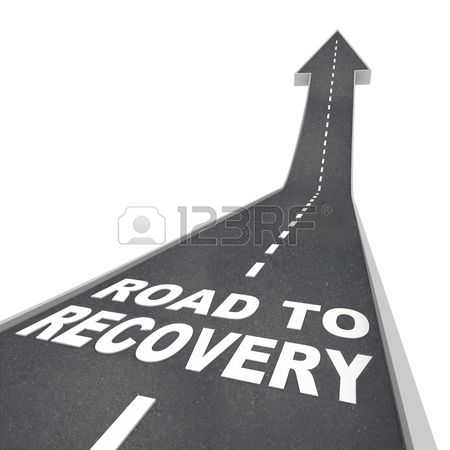 8088174-the-words-road-to-recovery-on-the-pavement-of-a-road-with-an-arrow-pointing-up-into-the-sky