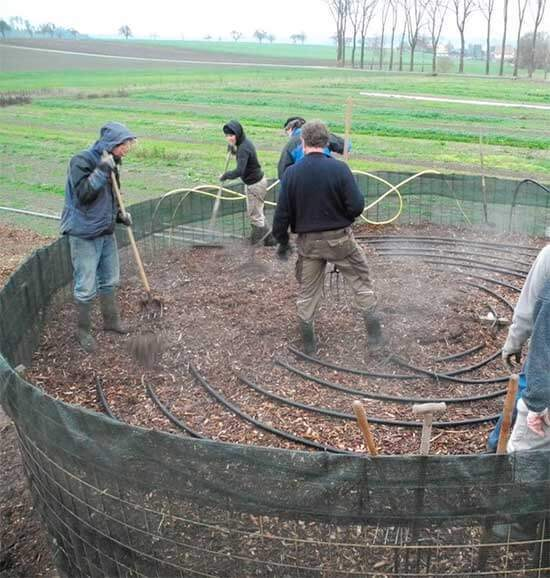 Biomeiler — компостом отопление