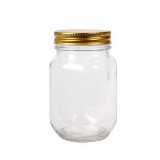 Frasco liso con tapa 450ml tipo mason jar