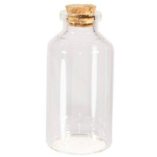 Botellita De Cristal Con Tapa de corcho aprox. 30ml