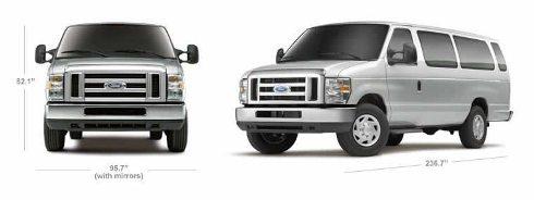 Ford Passenger Van Exterior Dimensions