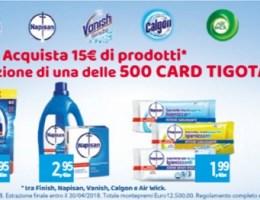 vinci una card da 25 euro tigotà