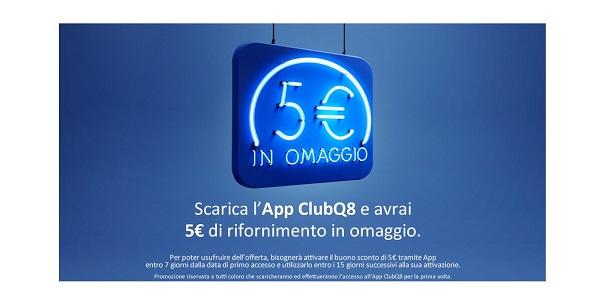 ricevi 5 euro di buono carburante Q8