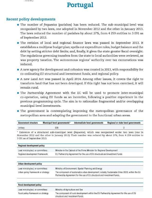 OCDE Portugal 2014 -Regional Outlook