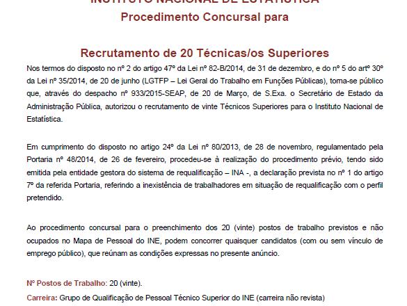 Recrutamento INE