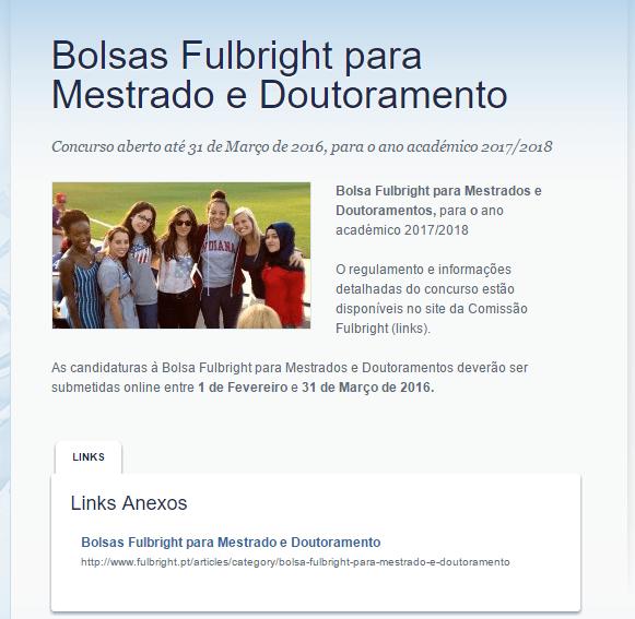 Bolsas Fulbright para investigação - 2017 2018