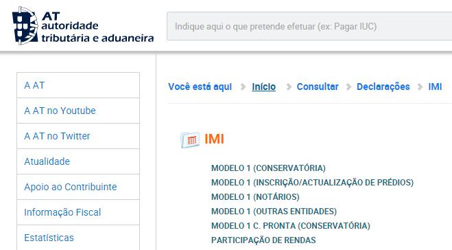Taxa máxima de IMI 2017