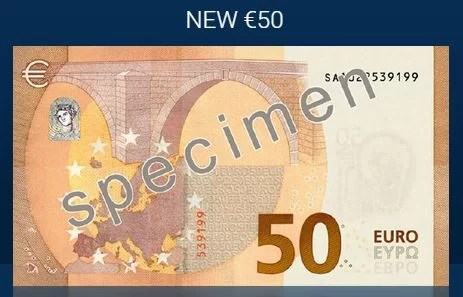 Nova Nota de 50 Euros II