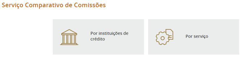 Comparador de Comissões Bancárias