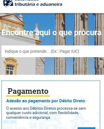 Débito Direto Portal das Finanças