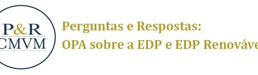 OPA EDP: CMVM responde a perguntas mais frequentes