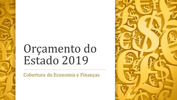 Artigos sobre o Orçamento do Estado para 2019