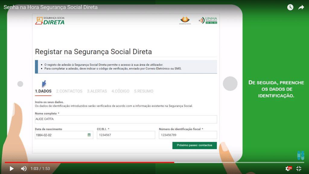 Dados Identificação Segurança Social