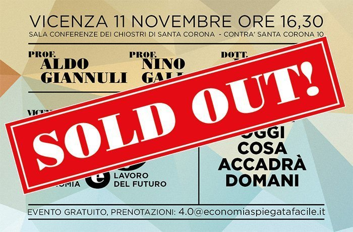 Vicenza 4.0 SOLD OUT!
