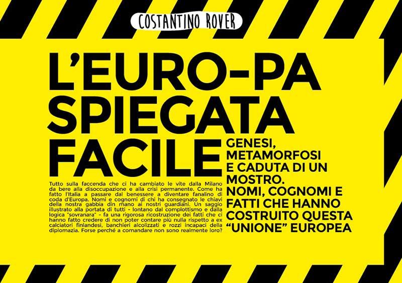 Bozza di copertina del libro L'Europa spiegata facile