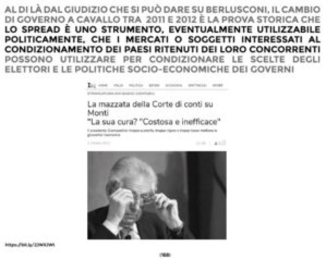Mario Monti ha dato la mazzata finale all'Italia.