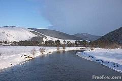Winter snow covers the Tweed Valley