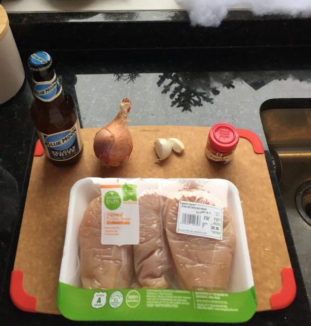 Slow Cooker Beer Chicken Ingredients
