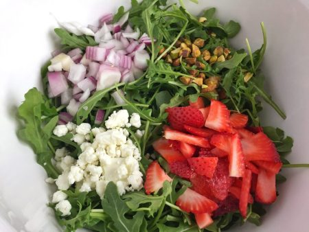 Spring Arugula Salad Close Up