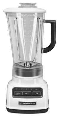 KitchenAid KSB1575WH 5-Speed Diamond Blender with 60-Ounce BPA-Free Pitcher