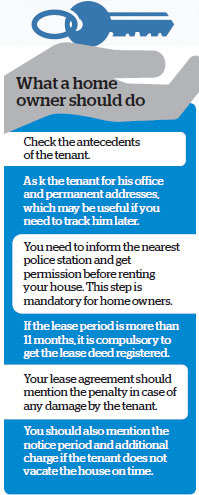 What you should know before giving your house on lease