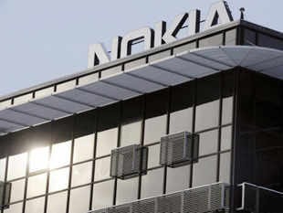 Shares in mobile phone firm Nokia leapt 10 per cent on Monday on hopes it can benefit from a setback to rival Samsung, which has lost a high-profile court case to Apple