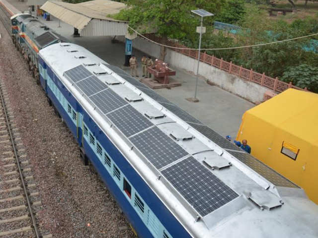 Image result for solar-powered trains