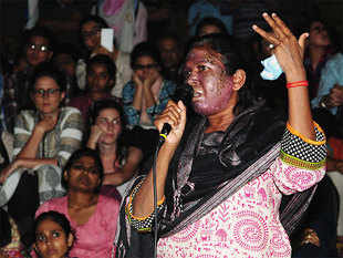 An acid attack survivor from Chhattisgarh, Sori on Monday said it was her turn to stand with the JNU students after all the support she has received from them all these years.