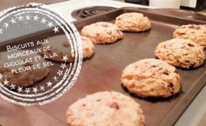 Biscuits aux morceaux de chocolat et à la fleur de sel