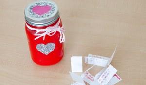 Saint-Valentin offrir l'amour en pot