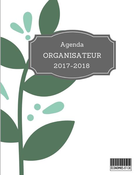 Agenda organisateur imprimable 2017-2018