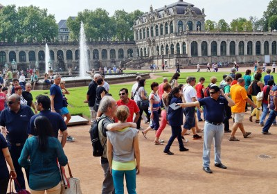 voyage de groupe touristes