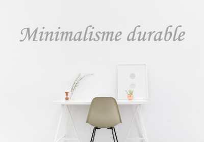 minimalisme durable