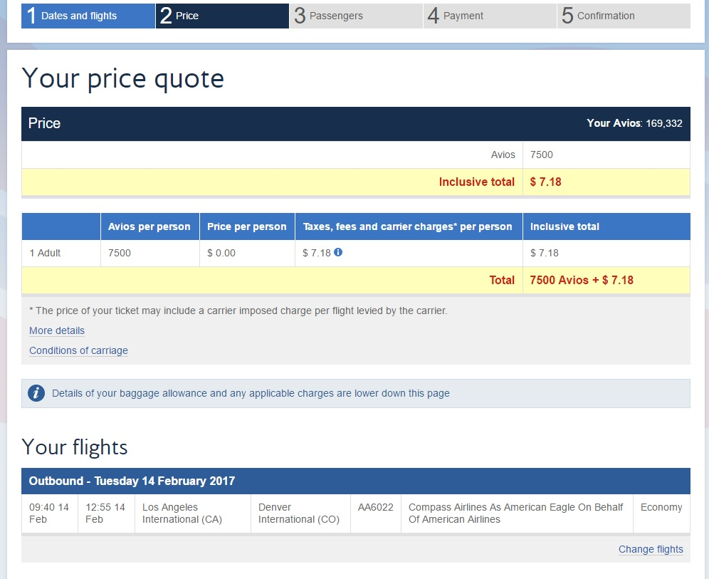 Use dollar or miles to book? A simple example
