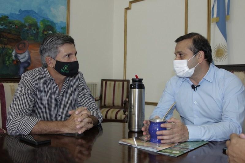 Szychowski se reunió con Herrera Ahuad para analizar el mercado yerbatero