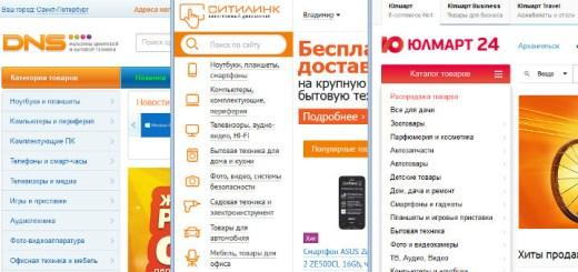 Обзор интернет-магазинов Юлмарт, Ситилинк и ДНС