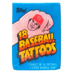 1986 Topps Baseball Tattoos