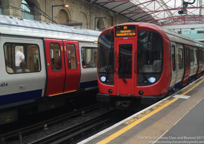 London Underground S Stock train at Farringdon - Image, Economy Class and Beyond