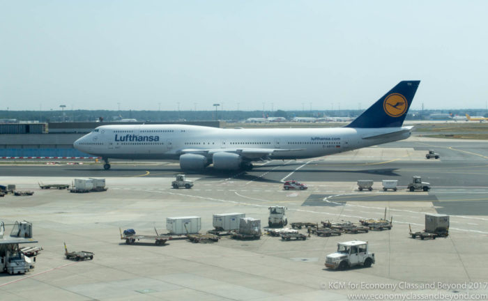 Lufthansa Boeing 747-8i taxing at Frankfurt Airport - Image, Economy Class and Beyond